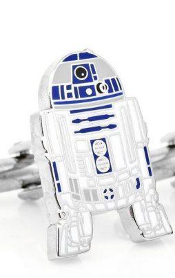 Metallic cufflinks of R2D2 Star Wars